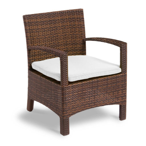 outdoor wicker armchair with cushion