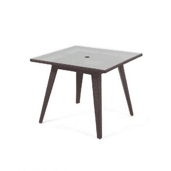 outdoor dining table with glass top