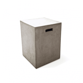 outdoor cement side table