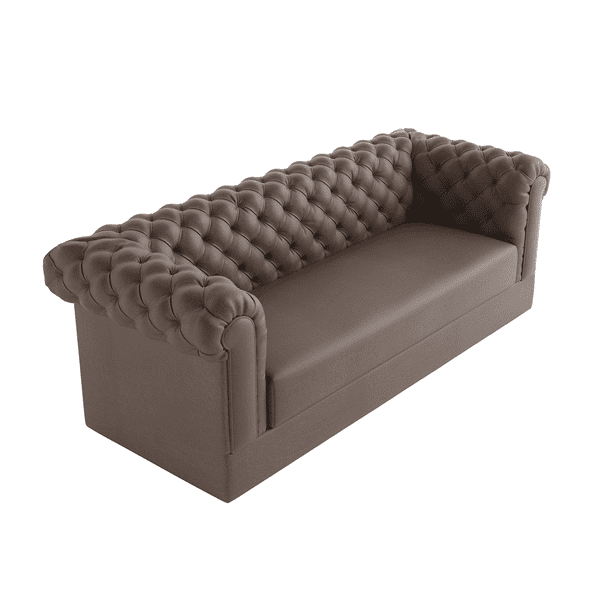 diamond tufted sofa with armrests