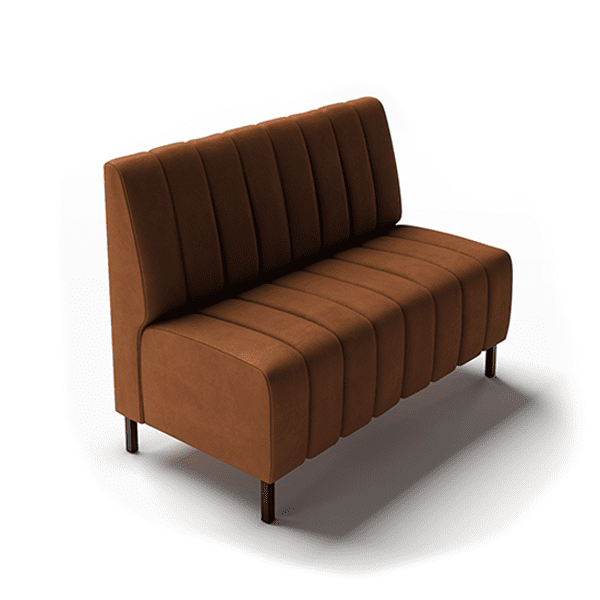 vertical channel sofa or booth