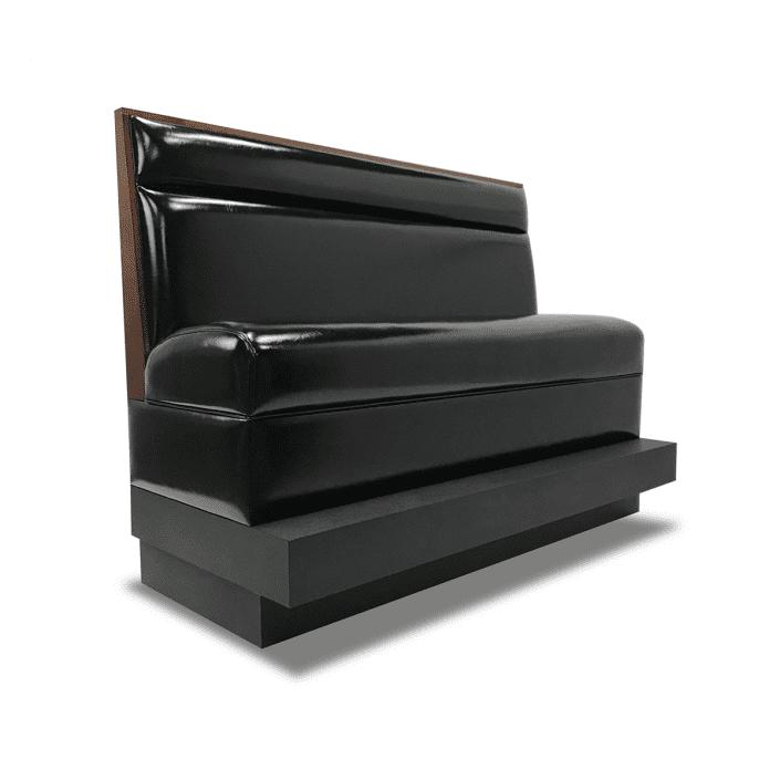 black vinyl booth with toekick