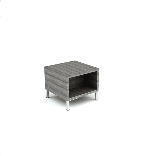 end table grey wood