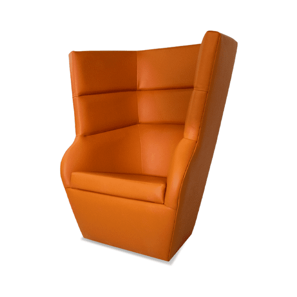 futuristic orange lounge chair