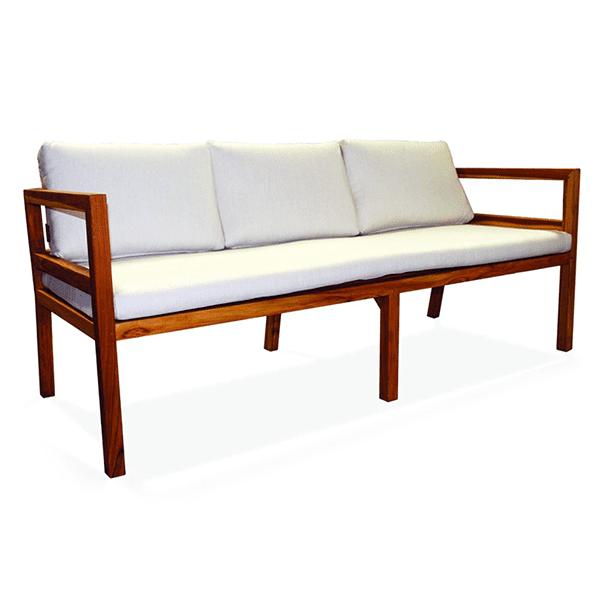 outdoor patio teak sofa