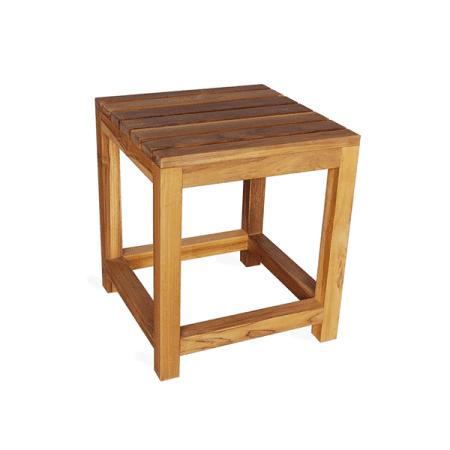 outdoor teak patio side table