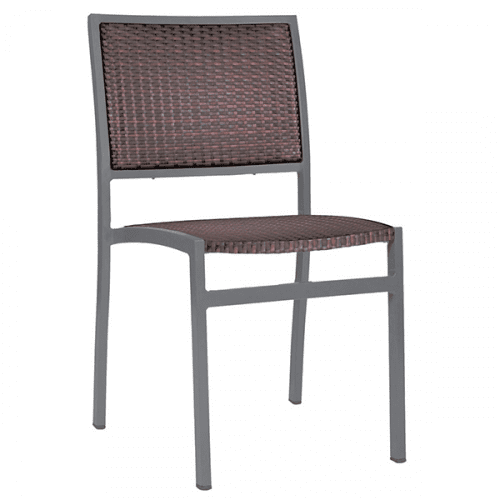 outdoor wicker dining chair