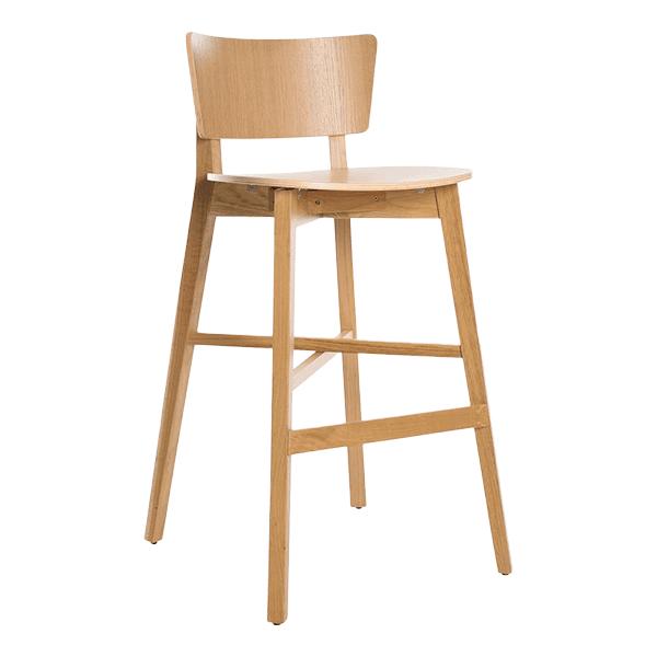 simple wood barstool