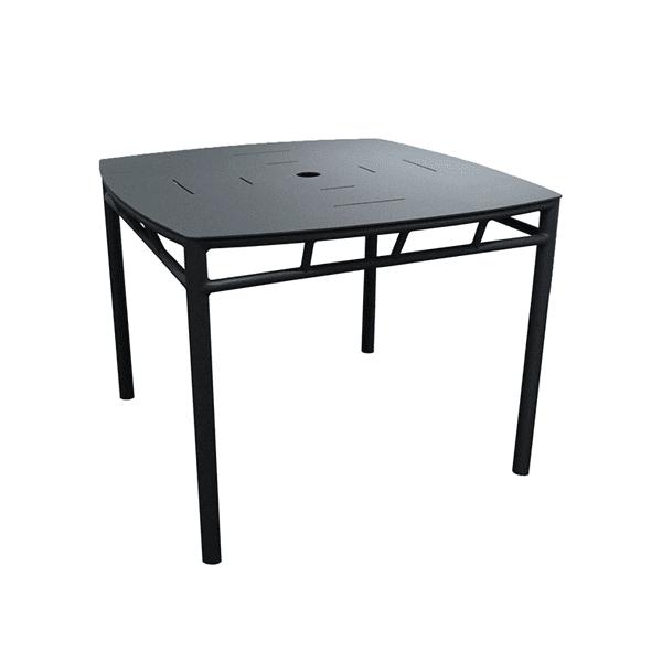 outdoor square aluminum table