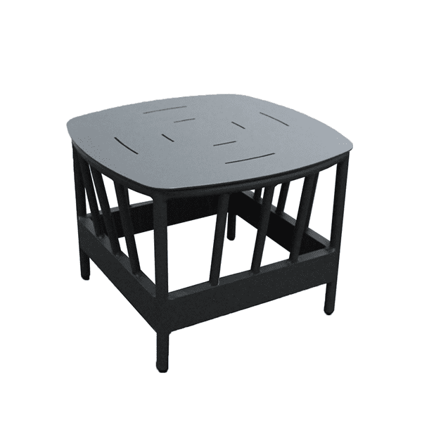outdoor aluminum side table
