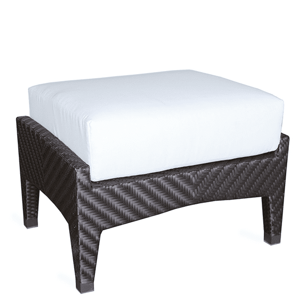 outdoor wicker ottoman with cushion