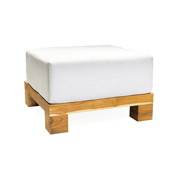 outdoor teak ottoman with cushion