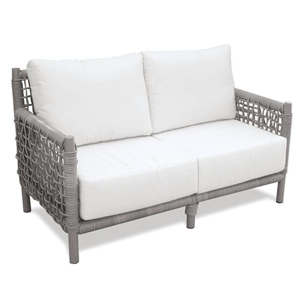 outdoor wicker patio sofa