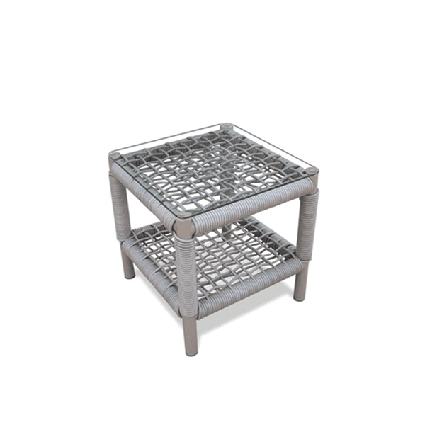 outdoor wicker table with glass top