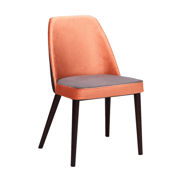 duotone upholstered wood chair