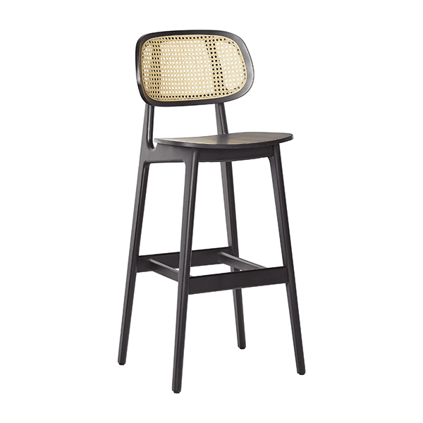 black french cane back barstool