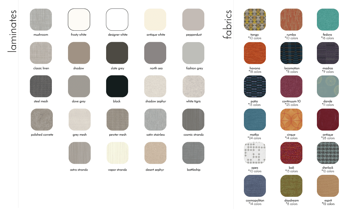 venue standard fabrics and laminates