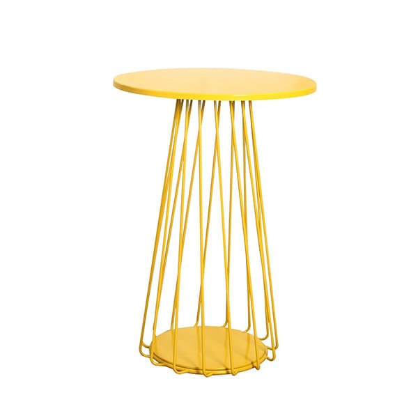 outdoor yellow bar table for commercial use