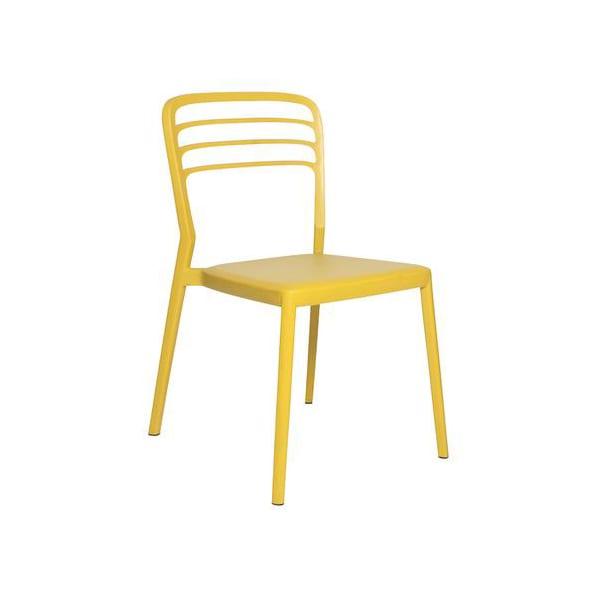 outdoor yellow polyethylene chair