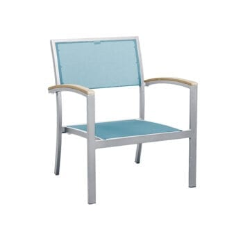 outdoor armchair with a sling seat