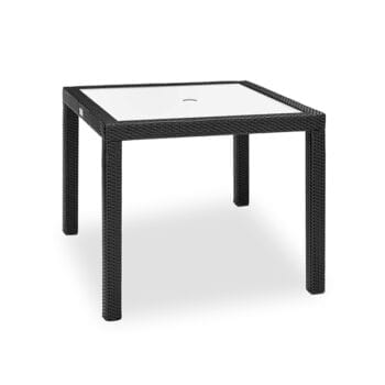 outdoor counter height table with glass top