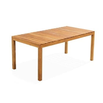 outdoor rectangular teak wood dining table