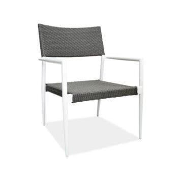 outdoor wicker aluminum armchair
