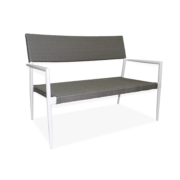 outdoor aluminum wicker loveseat
