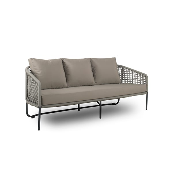 outdoor woven wicker aluminum sofa
