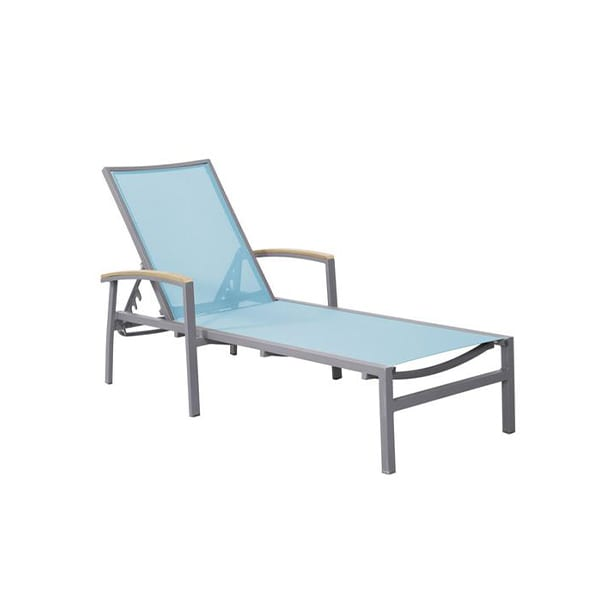 outdoor sling seat chaise lounge chair