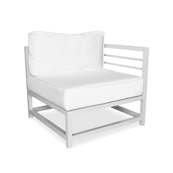 Outdoor lounge sectional end unit for commercial use