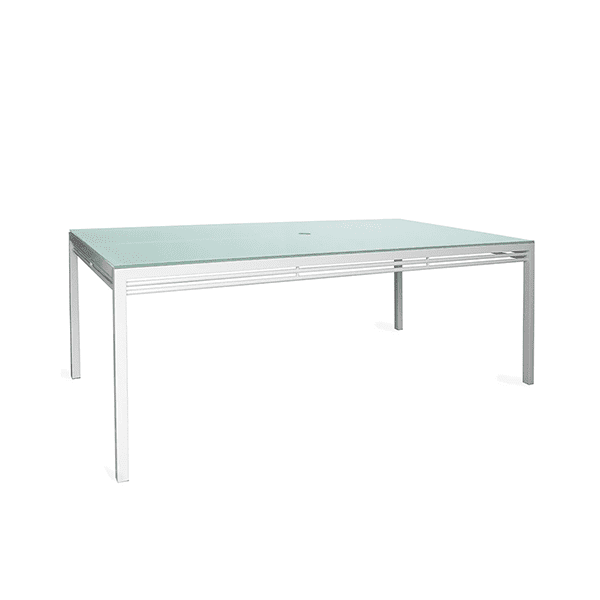 Outdoor aluminum and glass dining table
