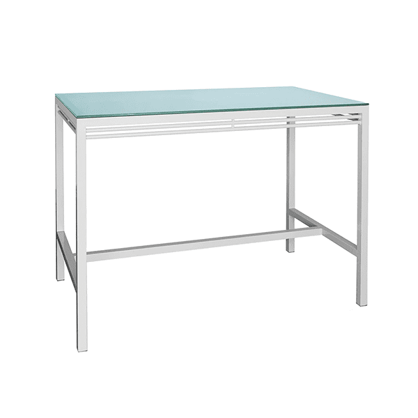 outdoor bar dining table with a glass top