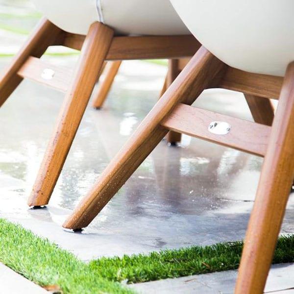 waterproof outdoor chairs with teak legs
