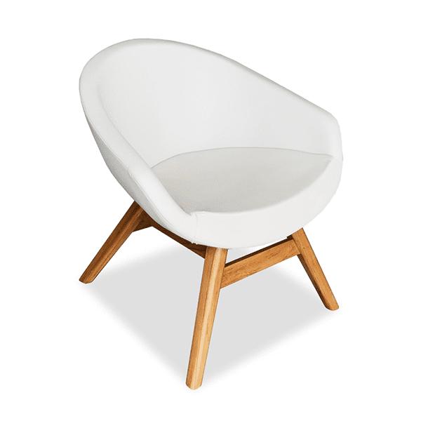 Outdoor bucket chair mid century style