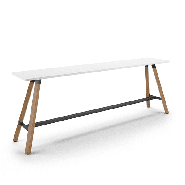 mid-century white console table