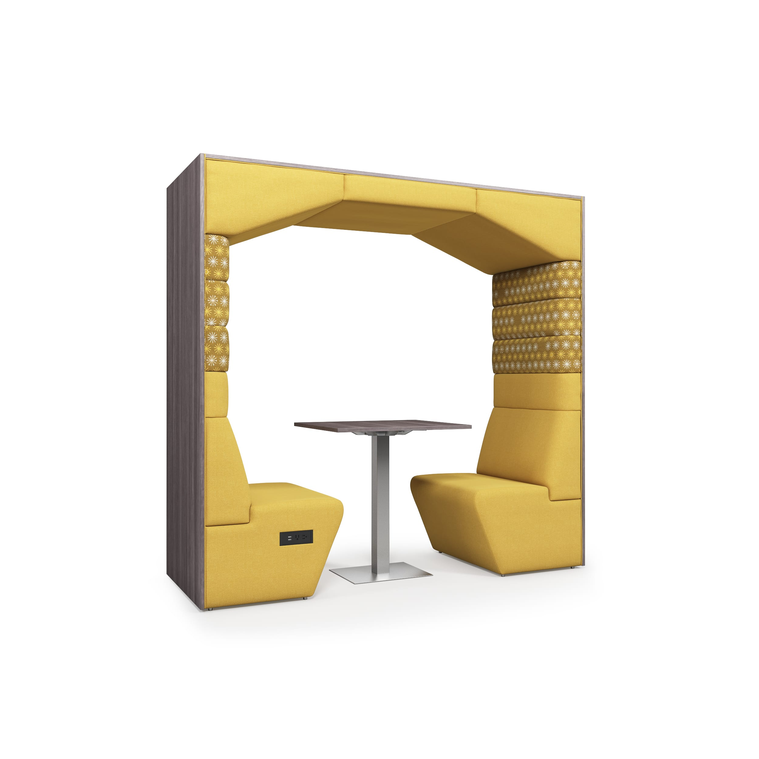 yellow office pod for workplaces
