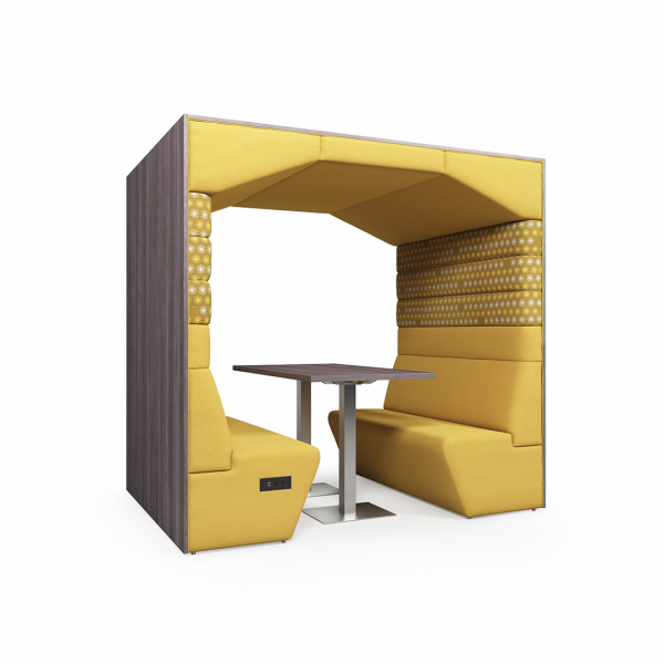 commercial seating pod with roof