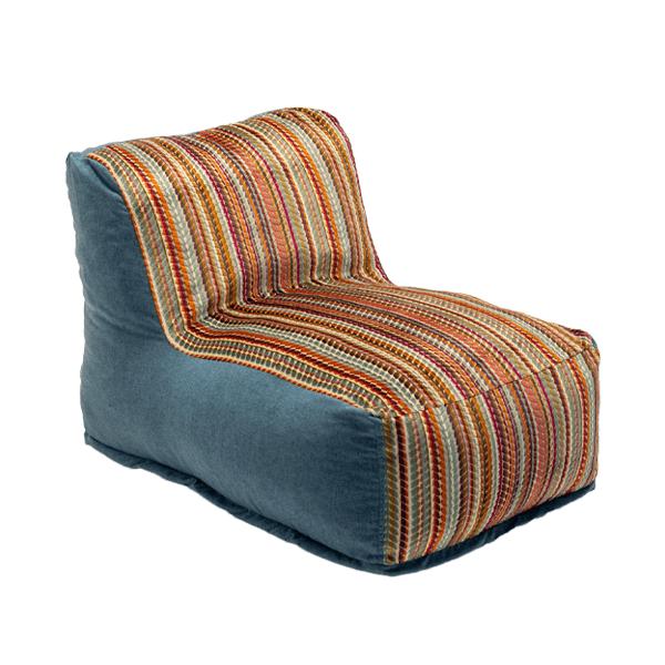 duotone denim beanbag chair